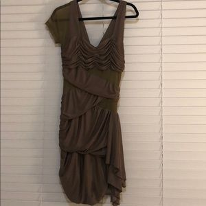 Army olive green dress from bebe